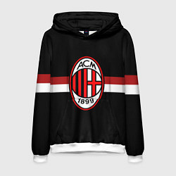 Толстовка-худи мужская AC Milan 1899 цвета 3D-белый — фото 1
