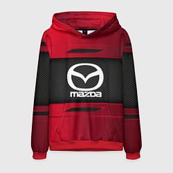 Толстовка-худи мужская Mazda Sport цвета 3D-красный — фото 1