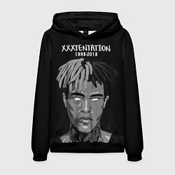 Толстовка-худи мужская XXXTentacion: 1998-2018 цвета 3D-черный — фото 1