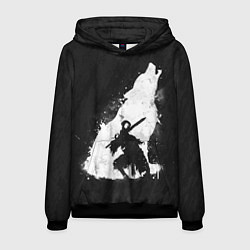 Толстовка-худи мужская Dark Souls: Howling Wolf цвета 3D-черный — фото 1