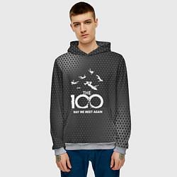Толстовка-худи мужская The 100 цвета 3D-меланж — фото 2