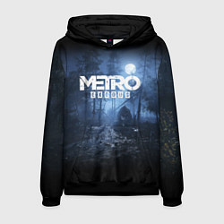 Толстовка-худи мужская Metro Exodus: Dark Moon цвета 3D-черный — фото 1