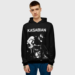 Толстовка-худи мужская Kasabian Rock цвета 3D-черный — фото 2