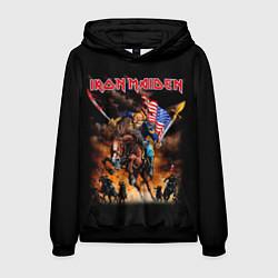 Толстовка-худи мужская Iron Maiden: USA Warriors цвета 3D-черный — фото 1