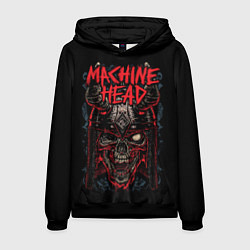 Толстовка-худи мужская Machine Head: Blooded Skull цвета 3D-черный — фото 1