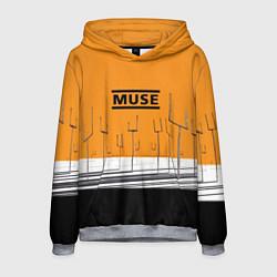 Толстовка-худи мужская Muse: Orange Mood цвета 3D-меланж — фото 1
