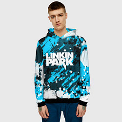 Толстовка-худи мужская Linkin Park цвета 3D-черный — фото 2
