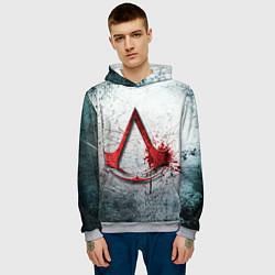 Толстовка-худи мужская Assassins Creed цвета 3D-меланж — фото 2