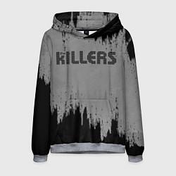 Толстовка-худи мужская The Killers Logo цвета 3D-меланж — фото 1