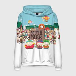 Толстовка-худи мужская Южный Парк цвета 3D-белый — фото 1