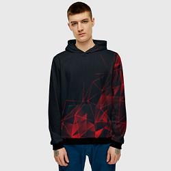 Толстовка-худи мужская RED STRIPES цвета 3D-черный — фото 2