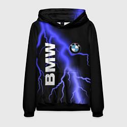 Толстовка-худи мужская BMW цвета 3D-черный — фото 1