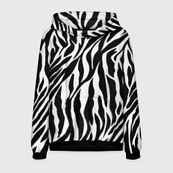 Толстовка-худи мужская Зебра цвета 3D-черный — фото 1