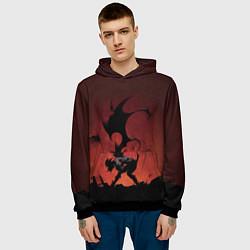 Толстовка-худи мужская Asta demon цвета 3D-черный — фото 2