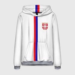 Толстовка-худи мужская Сборная Сербии цвета 3D-меланж — фото 1