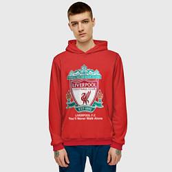 Толстовка-худи мужская Liverpool цвета 3D-красный — фото 2