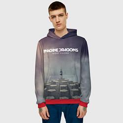 Толстовка-худи мужская Imagine Dragons: Night Visions цвета 3D-красный — фото 2