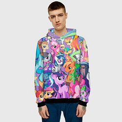 Толстовка-худи мужская My Little Pony цвета 3D-черный — фото 2
