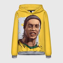 Толстовка-худи мужская Ronaldinho Art цвета 3D-меланж — фото 1