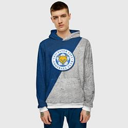 Толстовка-худи мужская Leicester City FC цвета 3D-белый — фото 2