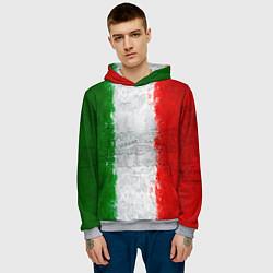 Толстовка-худи мужская Italian цвета 3D-меланж — фото 2