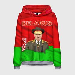 Толстовка-худи мужская Belarus: Lukashenko цвета 3D-меланж — фото 1