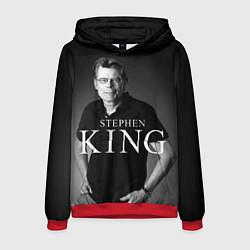 Толстовка-худи мужская Стивен Кинг цвета 3D-красный — фото 1
