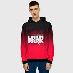 Толстовка-худи мужская Linkin Park: Minutes to midnight цвета 3D-черный — фото 2