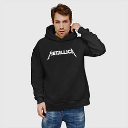Толстовка оверсайз мужская Metallica цвета черный — фото 2
