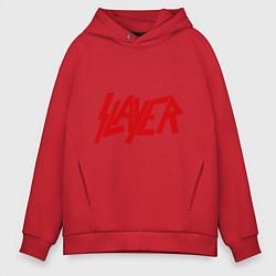Толстовка оверсайз мужская Slayer цвета красный — фото 1