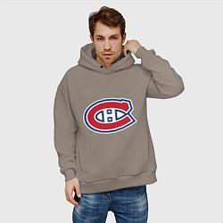 Толстовка оверсайз мужская Montreal Canadiens цвета утренний латте — фото 2