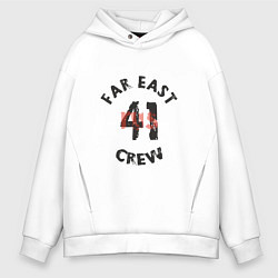 Толстовка оверсайз мужская Far East 41 Crew цвета белый — фото 1
