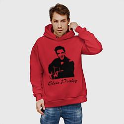 Толстовка оверсайз мужская Elvis Presley цвета красный — фото 2
