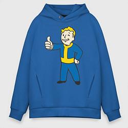 Толстовка оверсайз мужская Fallout Boy цвета синий — фото 1