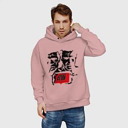 Толстовка оверсайз мужская Fight Club цвета пыльно-розовый — фото 2