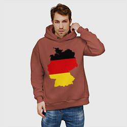 Толстовка оверсайз мужская Германия (Germany) цвета кирпичный — фото 2