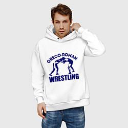 Толстовка оверсайз мужская Greco-roman wrestling цвета белый — фото 2
