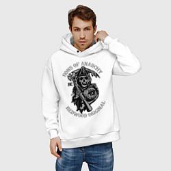 Толстовка оверсайз мужская Sons of Anarchy: Redwood Original цвета белый — фото 2