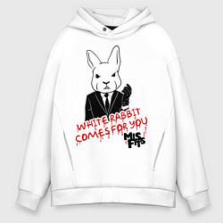 Толстовка оверсайз мужская Misfits: White rabbit цвета белый — фото 1