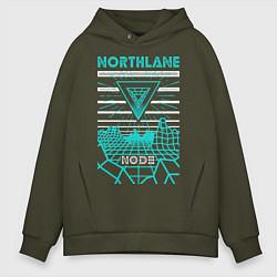 Толстовка оверсайз мужская Northlane: Node цвета хаки — фото 1