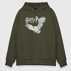 Толстовка оверсайз мужская Гарри Поттер: Букля цвета хаки — фото 1