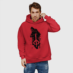 Толстовка оверсайз мужская BLOODBORNE цвета красный — фото 2