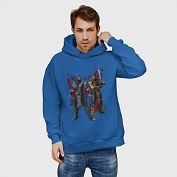 Толстовка оверсайз мужская Sub-Zero and Scorpion цвета синий — фото 2