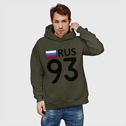 Толстовка оверсайз мужская RUS 93 цвета хаки — фото 2