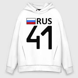 Толстовка оверсайз мужская RUS 41 цвета белый — фото 1