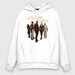 Толстовка оверсайз мужская The Suicide Squad цвета белый — фото 1