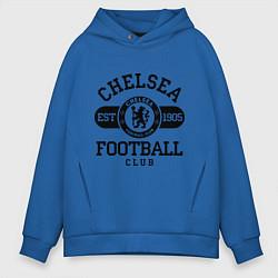 Толстовка оверсайз мужская Chelsea Football Club цвета синий — фото 1