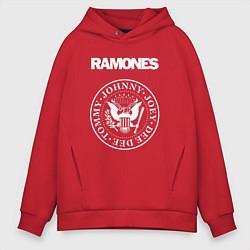 Толстовка оверсайз мужская Ramones цвета красный — фото 1