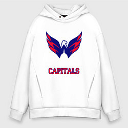 Толстовка оверсайз мужская Washington Capitals цвета белый — фото 1