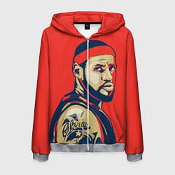 Толстовка 3D на молнии мужская LeBron James цвета 3D-меланж — фото 1
